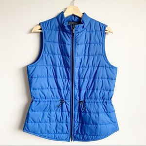 Lafayette 148 New York Blue Puffer Vest Size M